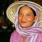 Cambodia: Woman with Hat